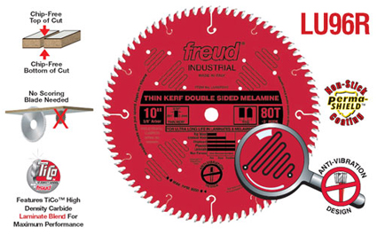 Freud Saw Blades Thin Kerf Double Sided Laminate Amp Melamine